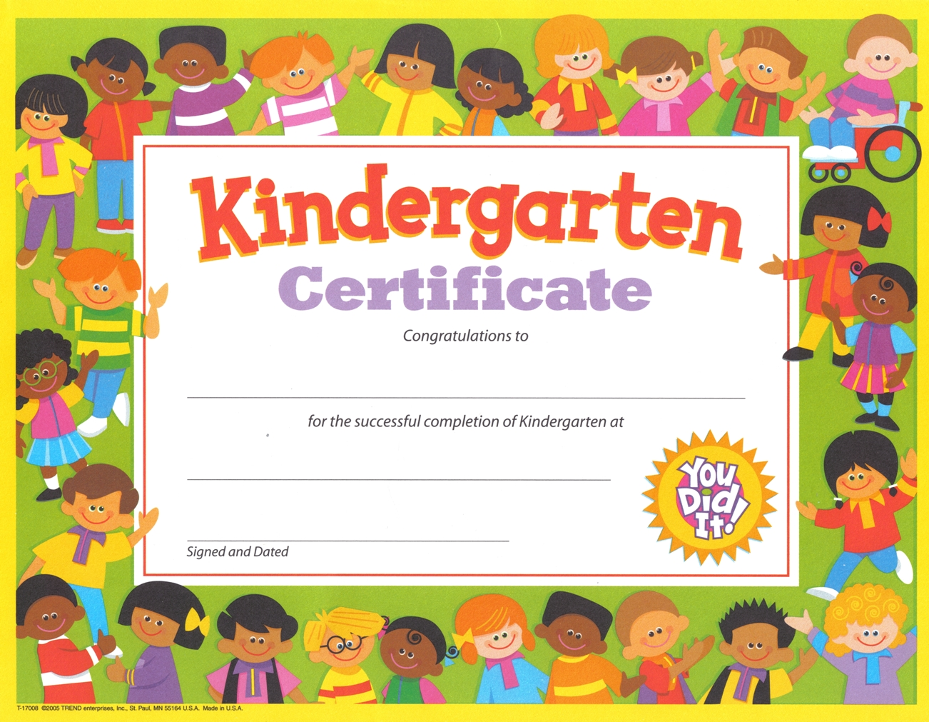 Gospel kindergarten justin buzzard for Pre k award certificate templates